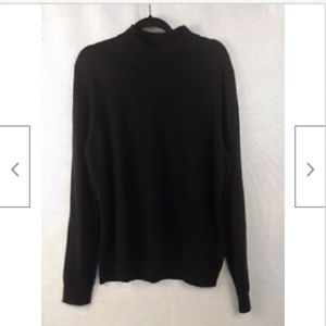 Nordstrom classic black mock neck wool sweater XL